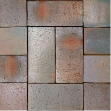 ТРОТУАРНЫЙ КЛИНКЕР ALTONA брусчатка сине-коричневый, печной сортировки, без фаски